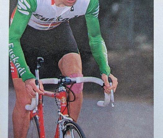 La Vuelta Ciclista de Bimbo. 1994. Rubén Gorospe (Euskadi). Cromo Bollycao. 📸: Eduardo González.