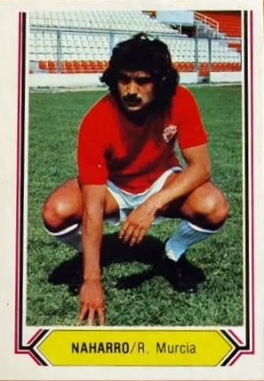 Liga 80 81. Naharro (Real Murcia). Ediciones Este. 📸: José María López González.