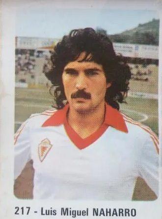 Liga 80 81. Naharro (Real Murcia). Nº 217. Editorial Cromo Crom. 📸: José María López González.