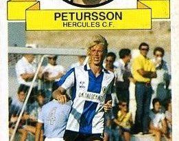 Liga 85-86 Petturson (Hércules C.F.). Ediciones Este. 📸: Antonio Ramírez.