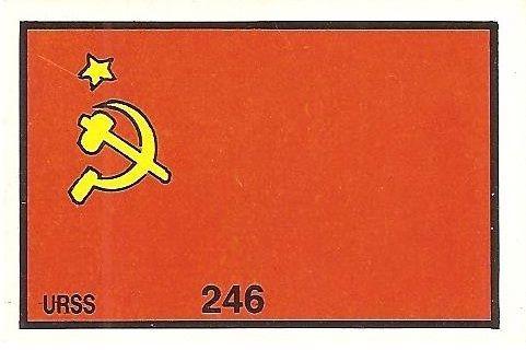 México 86. Bandera Unión Soviética (Unión Soviética) Cromos Barna.