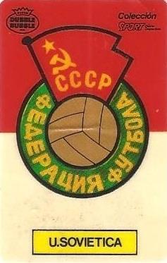 Mundial 1986. Escudo Unión Soviética (Unión Soviética). Ediciones Dubble Dubble.