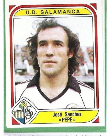 Liga 83-84. Pepe (U.D. Salamanca). Editorial Panini. 📸: Antonio Fernández.