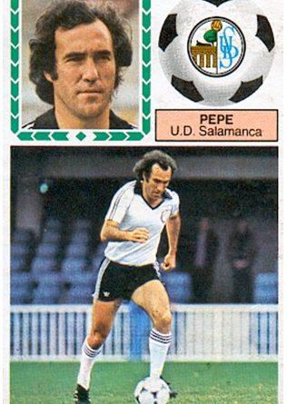 Liga 83-84. Pepe (U.D. Salamanca). Ediciones Este. 📸: Toni Izaro.