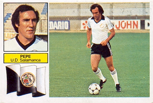 Liga 82-83. Pepe (U.D. Salamanca). Ediciones Este. 📸: Toni Izaro.