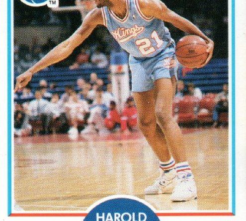 1989-90. Harold Pressley (Sacramento Kings). Fleer. 📸: Arturo López Romero.