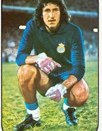 Liga 76-77. Gato Fernández (R.C.D. Español). Ediciones Este. 📸: Toni Izaro.