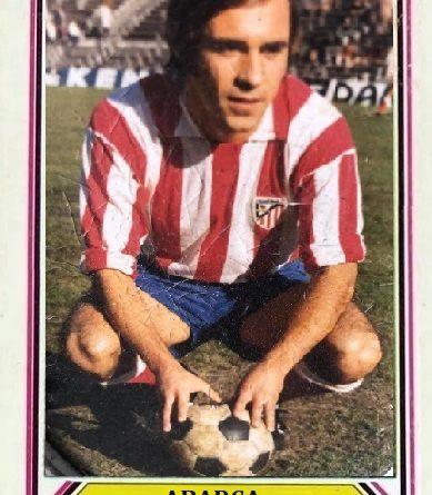 Abarca (Atlético Madrileño). 📸: Cromo-Montaje de M. Jorge Plaza Blanco.