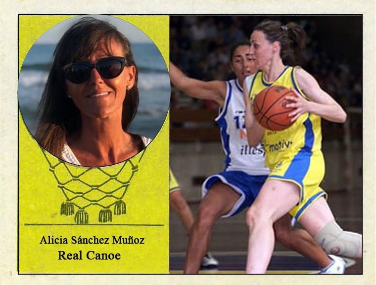 Alicia Sánchez (Real Canoe) 📸: Cromo-Montaje del Grupo de Facebook Nuestros álbumes de cromos.