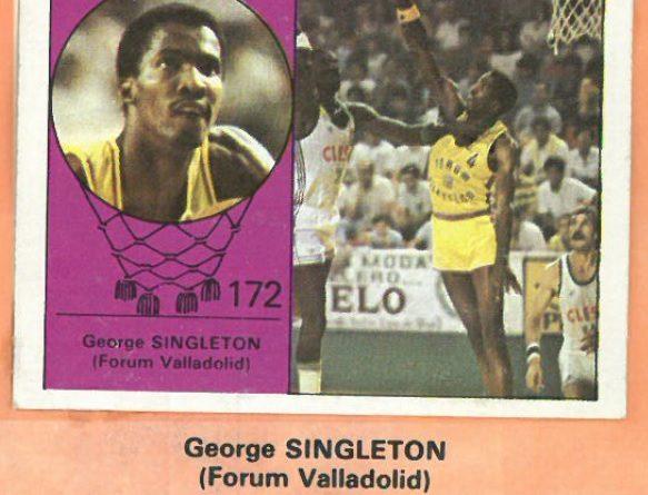 Campeonato Baloncesto Liga 1984-1985. George Singleton (Forum Valladolid). Ediciones J. Merchante - Clesa. 📸: Emilio Rodriguez Bravo.