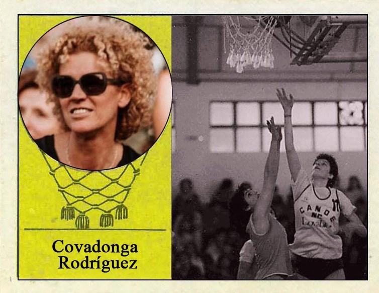 Covadonga Rodríguez (Real Canoe). Fotografía Cromo-Montaje del Grupo de Facebook Nuestros álbumes de cromos.