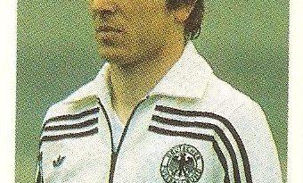 Eurocopa 1984. Klaus Fischer (República Federal de Alemania) Editorial Fans Colección.
