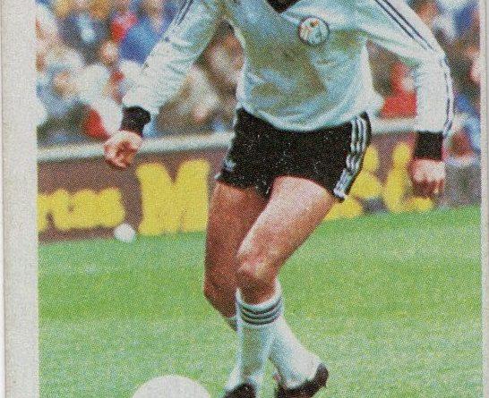 Fútbol 84. Pepe (U.D. Salamanca). Cromos Cano. 📸: Antonio Fernández.