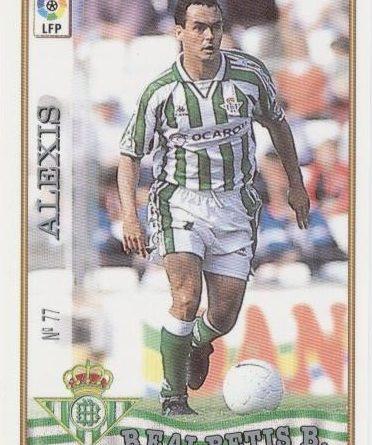 Las fichas de la Liga 97-98. Nº 77. Alexis (Real Betis). Editorial Mundicromo.