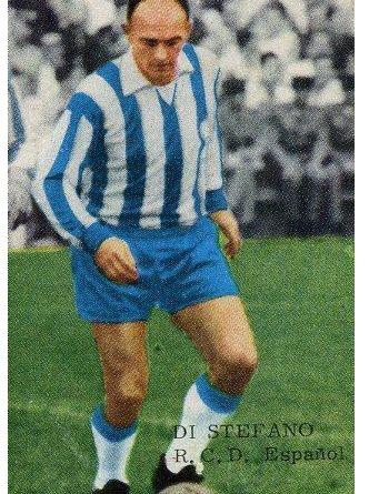 Liga 1965-66. Di Stéfano (R.C.D. Español). Editorial Fher. 📸: Sergio Hernández.