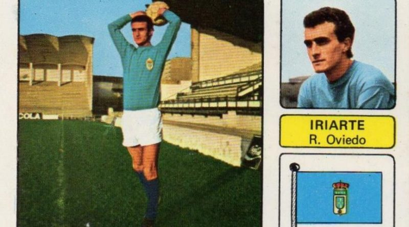 Liga 73-74. Iriarte (Real Oviedo). Editorial Fher. 📸: Juan Álvarez.