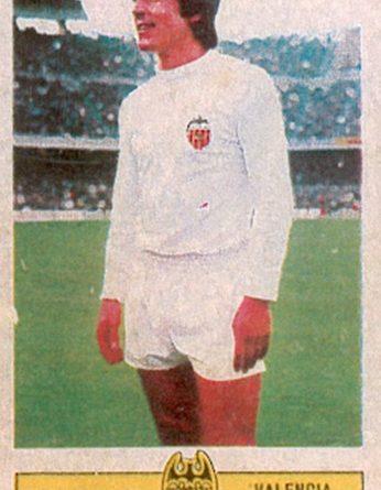 Liga 73-74. Valdez (Valencia C.F.). Ediciones Este. 📸: Toni Izaro.