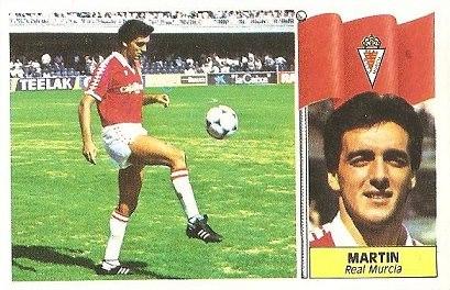 Liga 86-87. Martín (Real Murcia). Ediciones Este.
