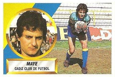 Liga 88-89. Mayé (Cádiz C.F.). Ediciones Este.