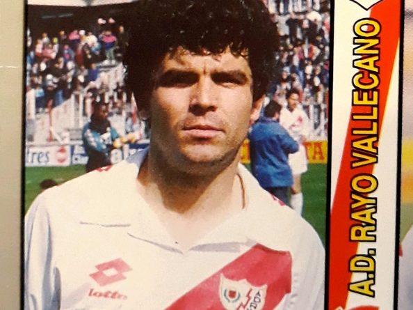 1995 Fútbol Total. Nº 186. Onésimo (Rayo Vallecano). Editorial Mundicromo.