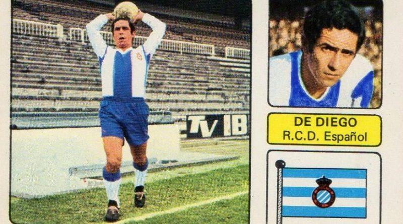 Liga 73-74. De Diego (R.C.D. Español). Editorial Fher. 📸: Juan Álvarez.