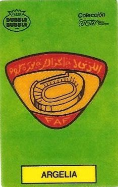 Mundial 1986. Escudo Argelia (Argelia). Ediciones Dubble Dubble.