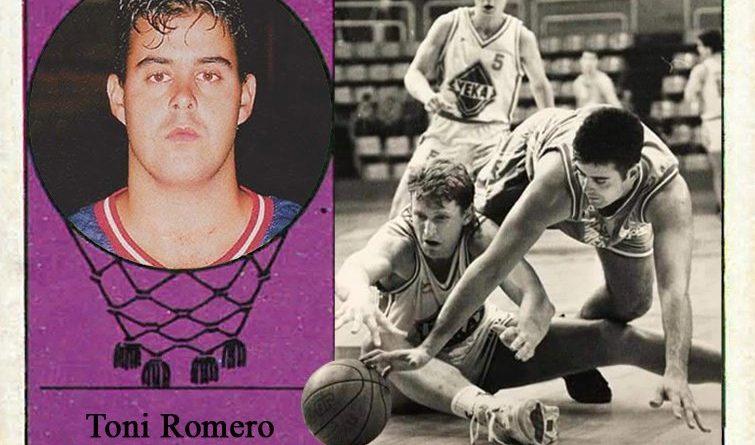 Toni Romero (CB Cáceres) Fotografía Cromo-Montaje del Grupo de Facebook Nuestros álbumes de cromos.