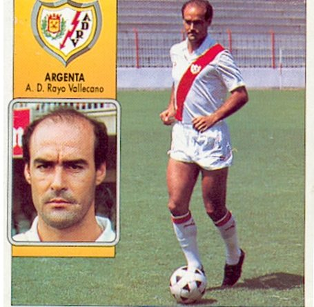 Liga 92-93. Argenta (Rayo Vallecano). Ediciones Este. 📸: Toni Izaro.