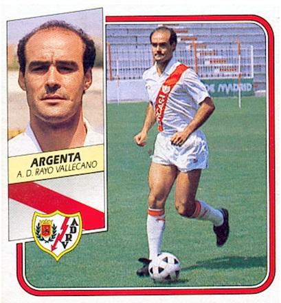 Liga 89-90. Argenta (Rayo Vallecano). Ediciones Este. 📸: Toni Izaro.