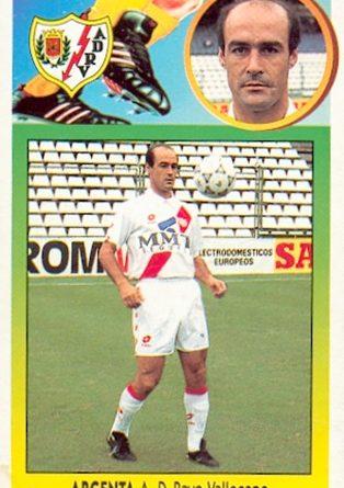 Liga 93-94. Argenta (Rayo Vallecano). Ediciones Este. 📸: Toni Izaro.