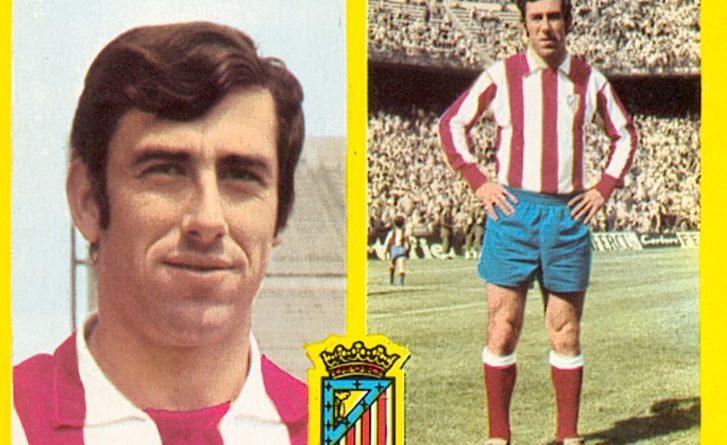 Liga 72-73. Adelardo (Atlético de Madrid). Ediciones Este. 📸: Toni Izaro.