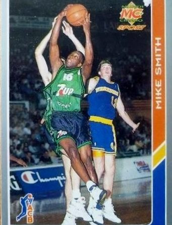 ACB 94-95. Mike Smith (Joventut de Badalona) Editorial Mundicromo. 📸: Lorenzo Moreno.