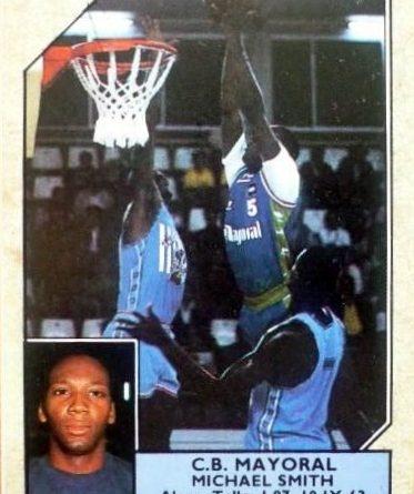 Baloncesto 1988-89. Mike Smith (Caja de Ronda). Converse. 📸: Luis González Soriano.