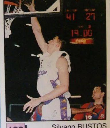 Basket 91 ACB. Silvano Bustos (Forum Filátelico). Ediciones Panini. 📸: Fernando Amaya Pérez.
