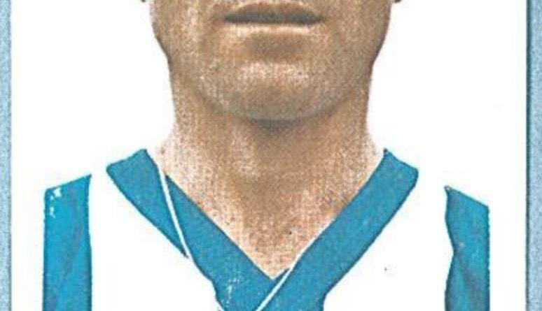Campeonato de Liga 1978-79. Isabelo (Recreativo de Huelva). Editorial Fher. 📸: @Catalogocromos (Twitter).