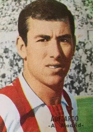 Liga 66-67. Adelardo (Atlético de Madrid). Editorial Fher. 📸: José Mateos.