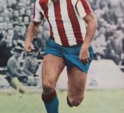 Liga 67-68. Adelardo (Atlético de Madrid). Editorial Fher. 📸: José Mateos.