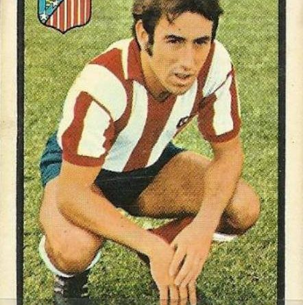 Liga 72-73. Adelardo (Atlético de Madrid). Editorial Fher. 📸: Juan Álvarez.