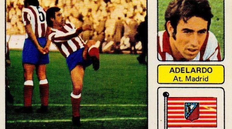 Liga 73-74. Adelardo (Atlético de Madrid). Editorial Fher. 📸: Juan Álvarez.