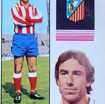 Liga 74-75. Adelardo (Atlético de Madrid). Editorial Fher. 📸: José Mateos.