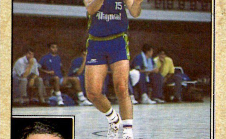 Liga ACB 1988-89. Jesús Peña (C.B. Mayoral). Editorial Merchante. 📸: Grupo de Facebook Nuestros álbumes de cromos.