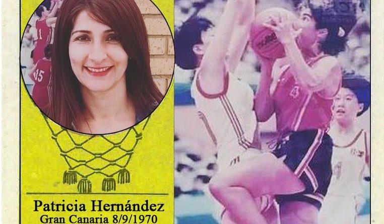 Patricia Hernández (Selección española de baloncesto femenino). 📸: Cromo-Montaje del Grupo de Facebook Nuestros álbumes de cromos