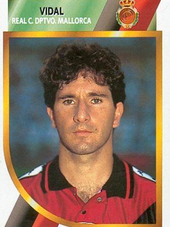 Liga 95-96. Vidal (R.C.D. Mallorca). Ediciones Este. 📸: Toni Izaro.