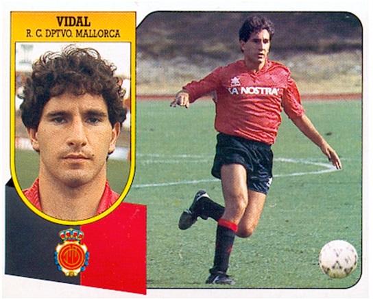 Liga 91-92. Vidal (R.C.D. Mallorca). Ediciones Este. 📸: Toni Izaro.