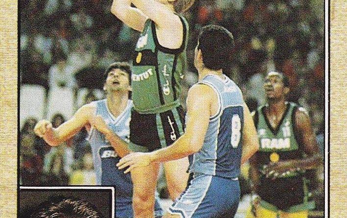 Baloncesto 1988-89. Carlos Ruf (Joventud de Badalona). Editorial J. Merchante. 📸: Grupo de Facebook Nuestros álbumes de cromos.