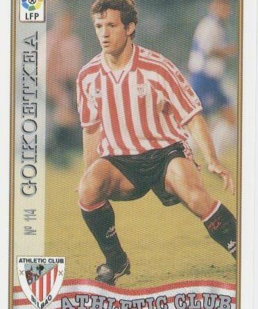 Las fichas de la Liga 97-98. Nº 114. Goikoetxea (Athletic Club). Editorial Mundicromo.