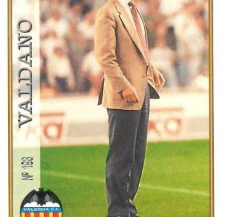 Las fichas de la Liga 97-98. Nº 193. Valdano (Valencia C.F.). Editorial Mundicromo.
