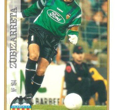 Las fichas de la Liga 97-98. Nº 194. Zubizarreta (Valencia C.F.). Editorial Mundicromo.