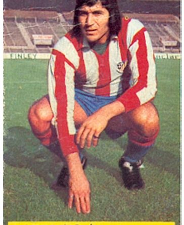 Liga 74-75. Ovejero (Atlético de Madrid). Ediciones Este. 📸: Toni Izaro.