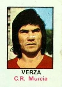 Liga 74-75. Verza (Real Murcia). Nº 20. Editorial Fher. 📸: José Cano Fernández.